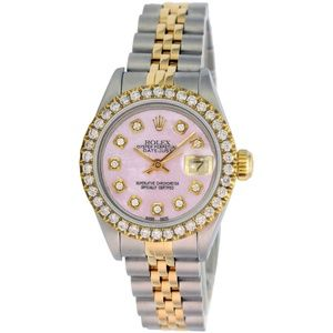 Rolex Accessories - Rolex Lady Datejust Pink MOP Diamond Dial 26mm